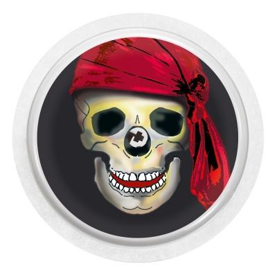 2x Totenkopf mit Mütze