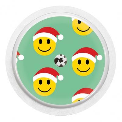 2x Santa Smiley